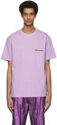 Robert Geller SSENSE Exclusive Purple Logo T-Shirt