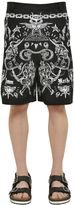 Givenchy Tattoo Printed Cotton Twill Shorts