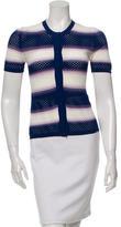 Missoni Short Sleeve Striped Cardigan