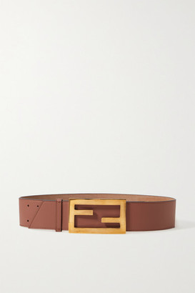 Fendi Leather Waist Belt - Brick