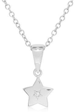Rhona Sutton My Very Own Diamond Children's Diamond Accent Star Necklace in Sterling Silver