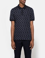Fred Perry Abstract Jacquard Pique Shirt