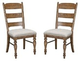 Romelia Upholstered Ladder Back Side Chair in Brushed Sand (Set of 2) August Grove