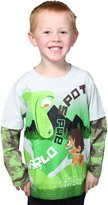 Disney Boys' Long Sleeve Arlo and Spot Tee