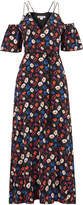 Whistles Resort Pansy Print Silk Dress