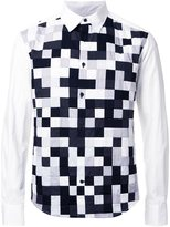 Anrealage 'Noise' patchwork shirt