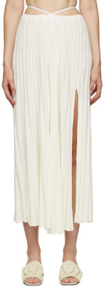 CHRISTOPHER ESBER White Rib Knit Tie Skirt