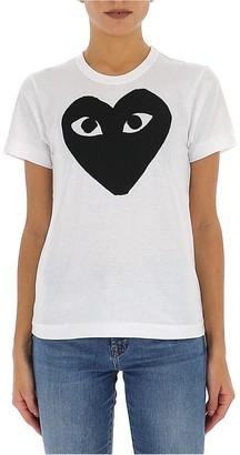 Comme des Garcons Heart Print Crewneck T-Shirt