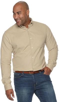 Croft & Barrow Big & Tall Extra-Soft Corduroy Woven Button-Down Shirt