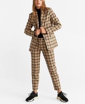MANGO Check Suit Blazer