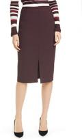 BOSS Vepeplum Front Slit Pencil Skirt