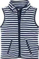 Playshoes Boy's Kids Sleeveless Full Zip Fleece Vest Maritime Striped Gilet,(Manufacturer Size:104)