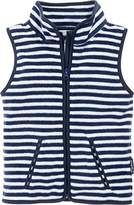 Playshoes Boy's Kids Sleeveless Full Zip Fleece Vest Maritime Striped Gilet,(Manufacturer Size:140)
