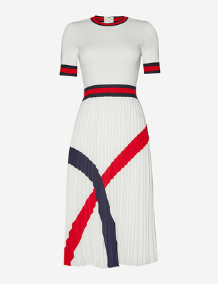Ted Baker Round neck stretch-woven midi dress