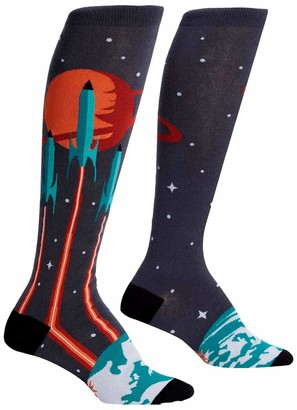 Sock It To Me Women's Knee High Socks - Launch from Earth (UK Size: 3-8)