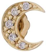 Sydney Evan Diamond Moon stud earring