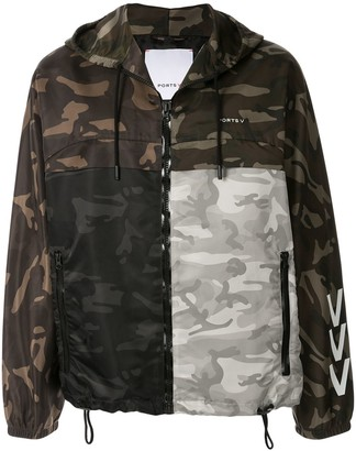 Ports V Camouflage-Print Hooded Jacket