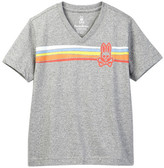 Psycho Bunny Stripe Tee (Toddler, Little Boys, & Big Boys)