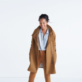 Madewell City Grid Coat in Burnished Cedar