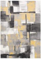 "Surya Pepin Modern Black, Medium Gray Area Rug, 7'11""x10'"
