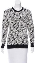 Jason Wu Textured Crew Neck Sweater