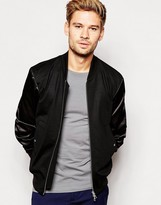 Paul Smith Bomber Jacket with Sateen Sleeves