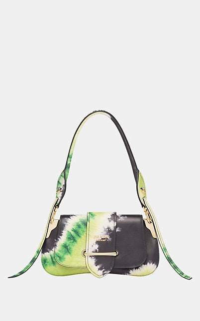 Prada Women's Sidonie Leather Shoulder Bag - Green