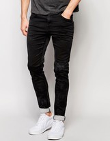 Replay Jeans Mirhal Skinny Fit Powerstretch Black Overdye Wash