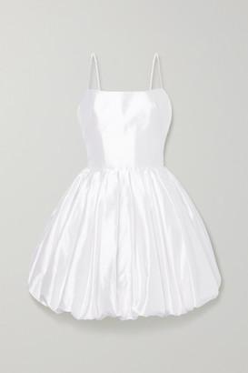 Rasario Silk-satin Mini Dress - White
