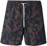 Salvatore Ferragamo leaf print swim trunks - men - Polyamide/Polyester - 46
