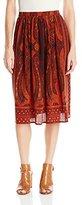 Lucky Brand Women's Mirrored Batik Skirt