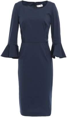 Oscar de la Renta Ruffle-trimmed Stretch-cotton Poplin Dress