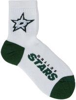 For Bare Feet Dallas Stars White Ankle Socks