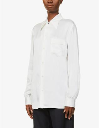 Maison Margiela Enver relaxed-fit crepe-satin shirt