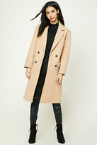 Forever 21 Double-Breasted Longline Coat