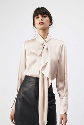 Witchery Silk Scarf Neck Blouse