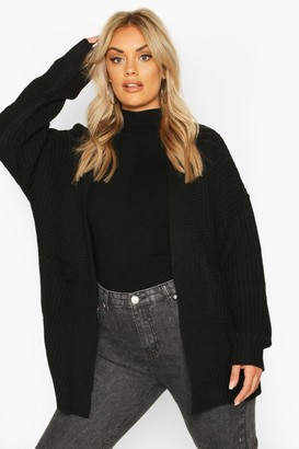 boohoo Plus Oversized Boyfriend Cardigan
