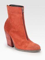 Ld Tuttle Balance Suede Zipper Ankle Boots