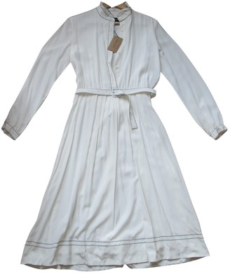 Vanessa Seward White Silk Dresses