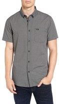 RVCA Men's 'That'Ll Do' Slim Fit Microdot Woven Shirt