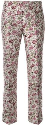 Giambattista Valli floral flare trousers