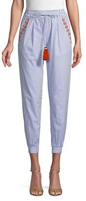 HEMANT AND NANDITA Striped Cotton Pants