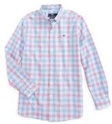 Vineyard Vines Boy's Lyndale Plaid Whale Shirt
