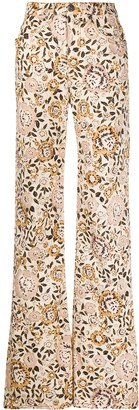 Etro Floral Print Flare Jeans