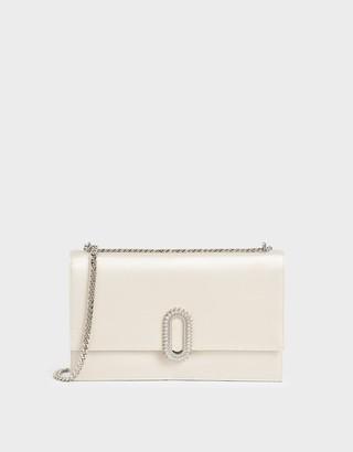 Charles & Keith Wedding Collection: Embellished Buckle Satin Crossbody Bag