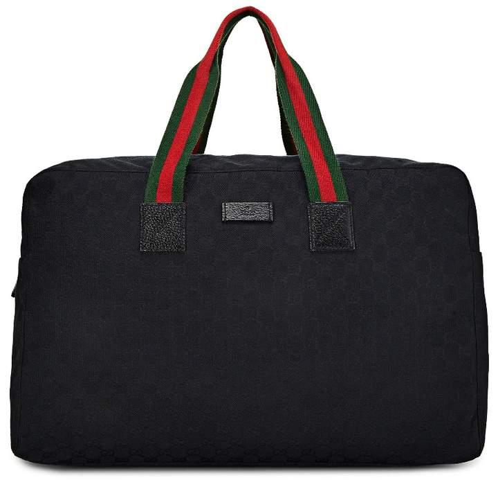 d14c17988bdf Leather-trimmed Canvas Duffle Bag - ShopStyle