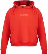 Martine Rose Rose-print hooded cotton sweatshirt