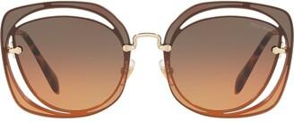 Miu Miu Scenique cut-out sunglasses
