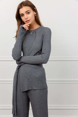 J.ING Grecian Grey Long Sleeve Tunic