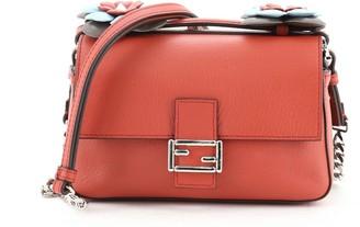 Fendi Flowerland Double Baguette Crossbody Bag Leather Micro